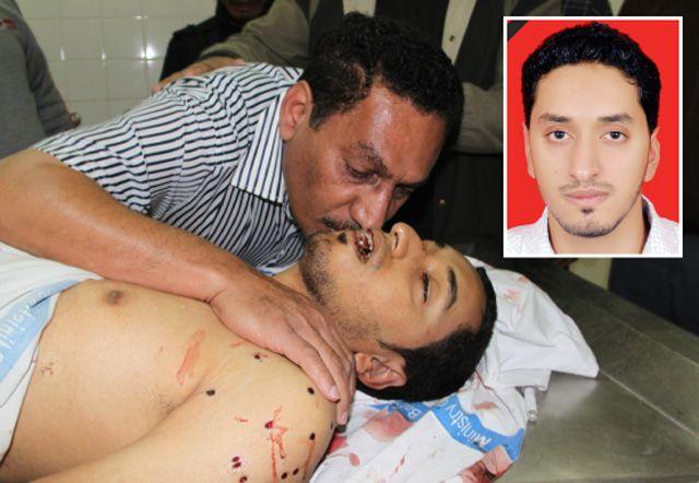 محمود أحمد مكي (21 عاماً) من سترة في لحظات الوداع الأخيرة