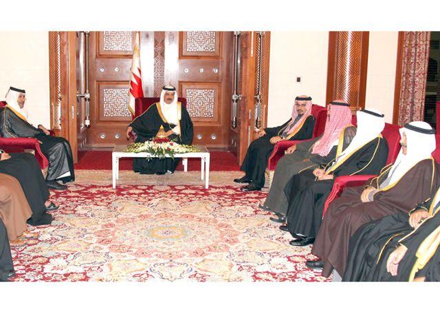 العاهل مستقبلاً وزراء خارجية دول مجلس التعاون الخليجي