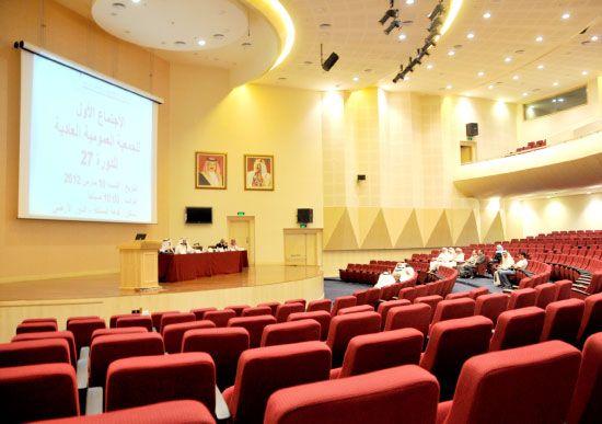 عدم اكتمال النصاب القانوني لانعقاد الجمعية العمومية للغرفة-تصوير محمد المخرق