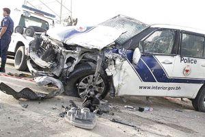 إصابة 6 أشخاص بتصادم 3 مركبات بينها دورية ...