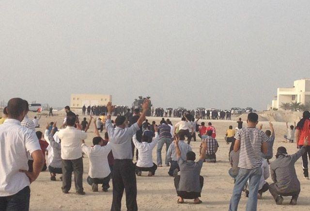 قوات الأمن تواجدت في الموقع الذي كان من المقرر أن يحتضن تجمع المعارضة أمس