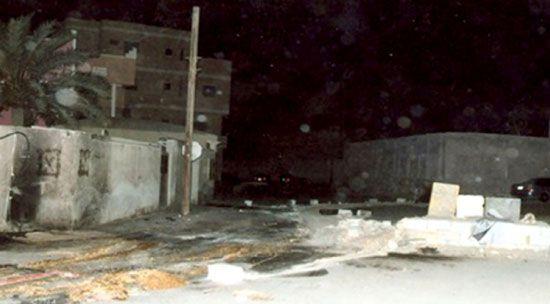 صورة توضح موقع التفجير في  الدراز