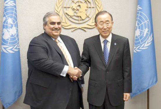 وزير الخارجية أكد للأمين العام كفالة البحرين لحرية التعبير السلمي ضمن حدود الالتزام بسيادة القانون