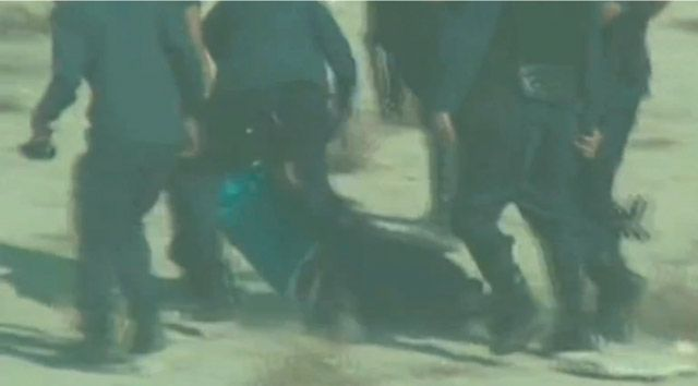 مقطع من فيديو يظهر واقعة اعتقال الشاب في بني جمرة