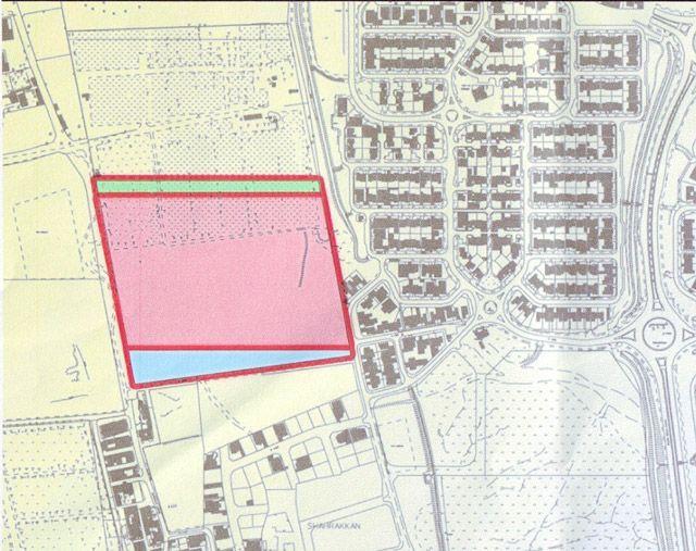 خريطة أرض مشروع شهركان الإسكاني بمساحة نحو 8 هكتارات تَسَع لـ 200 وحدة