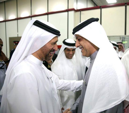 سلمان بن إبراهيم لدى استقباله السركال