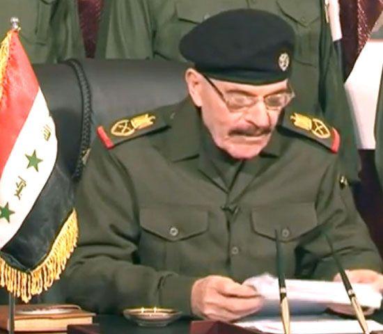 عزة الدوري كما بدا في الشريط المصور الذي نشرته مواقع إخبارية - afp