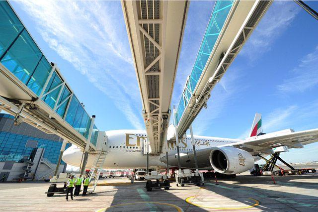إحدى طائرات الإمارات الإيرباص A380