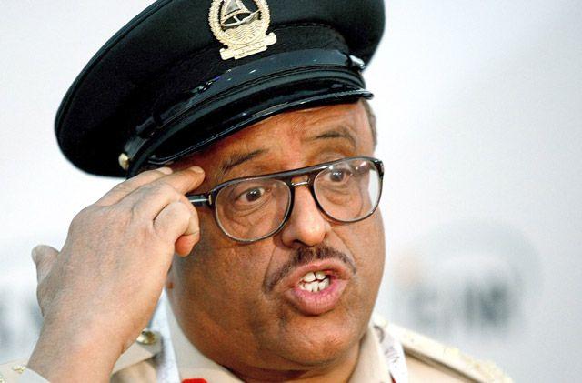 قائد شرطة دبي الفريق ضاحي خلفان - AFP