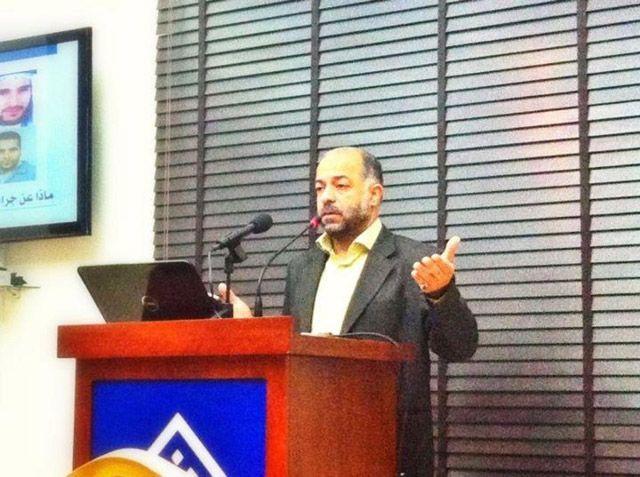 المؤتمر الصحافي  في مقر جمعية الوفاق