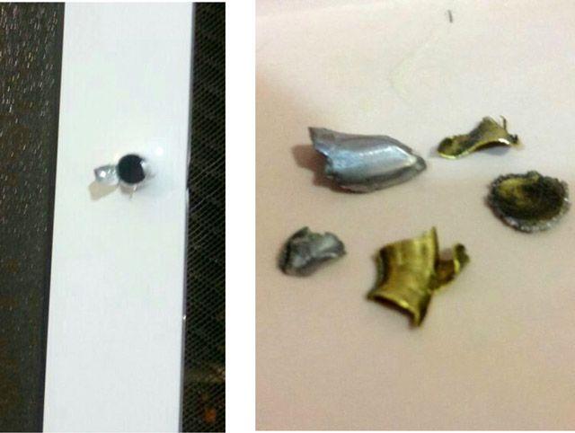 مخلفات الطلقات داخل منزل المواطن