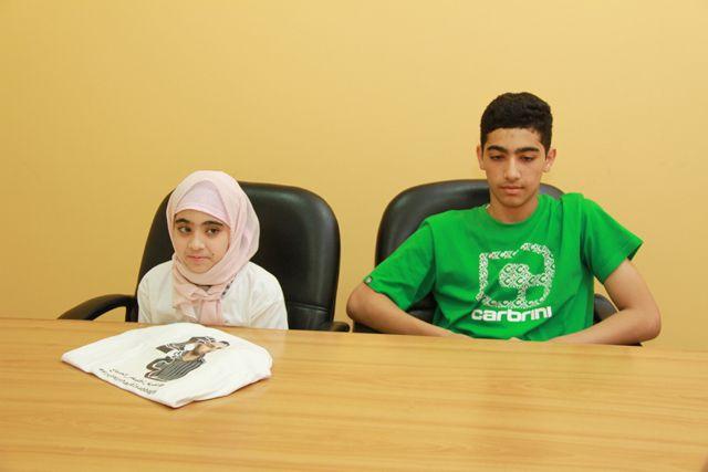 ابنا هشام الصباغ: ليس لنا إلا والدنا والحياة صعبة من دونه - تصوير : محمد المخرق