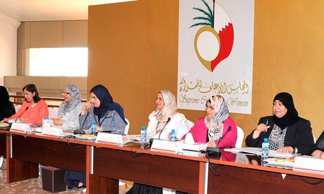 الأنصاري لدى ترؤسها اجتماع لجنة التعاون بين المجلس الأعلى للمرأة والجمعيات النسائية