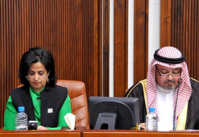 وزيرة الثقافة حضرت الجلسة أمس... ووزير العدل: أكد تطبيق القانون - تصوير : أحمد آل حيدر