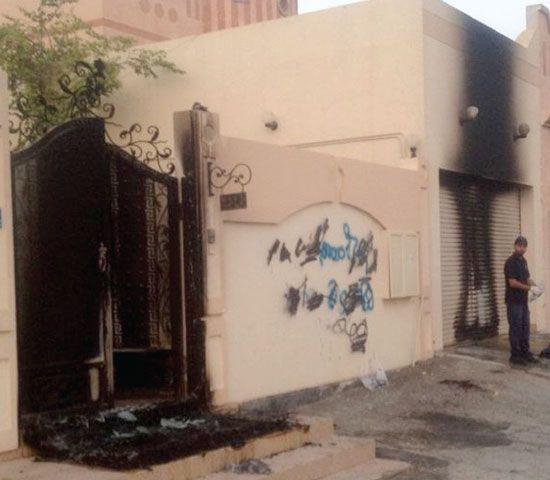 الأضرار التي لحقت بمنزل النائب عباس الماضي