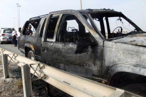 حريق بسيارة على شارع ولي العهد ولا إصابات