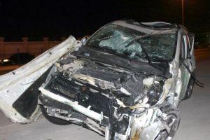 إصابة شابة في حادث تصادم 4 مركبات قرب القدم