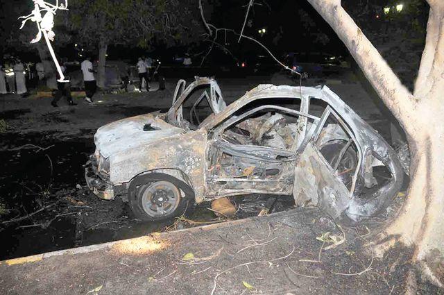 صورة ارشيفية لموقع انفجار السيارة في الرفاع