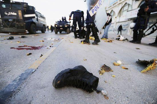 صورة لآثار الانفجار نشرتها وكالة الأنباء (رويترز)
