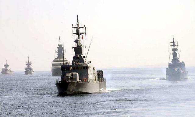 قطع حربية مشاركة في التمرين البحري المشترك «اتحاد - 16»