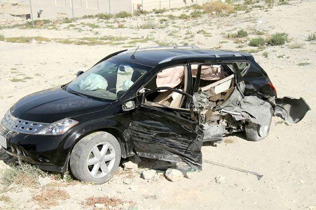 إحدى المركبات المشتركة في الحادث