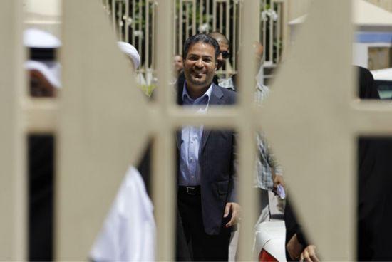 المرزوق خارج المحكمة أمس -<br />REUTERS