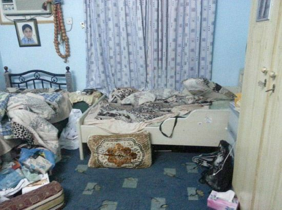 منزل سيدحسين سيدمجيد بعد اعتقاله