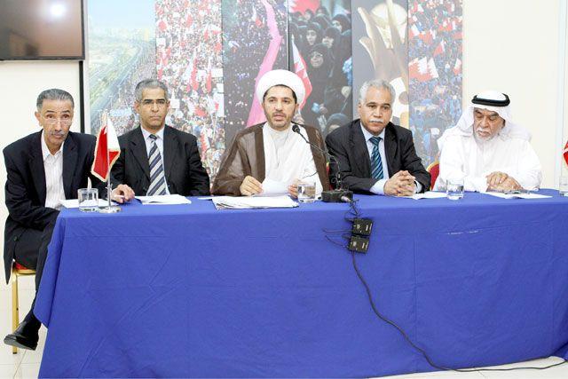 المؤتمر الصحافي لقوى المعارضة في الزنج أمس