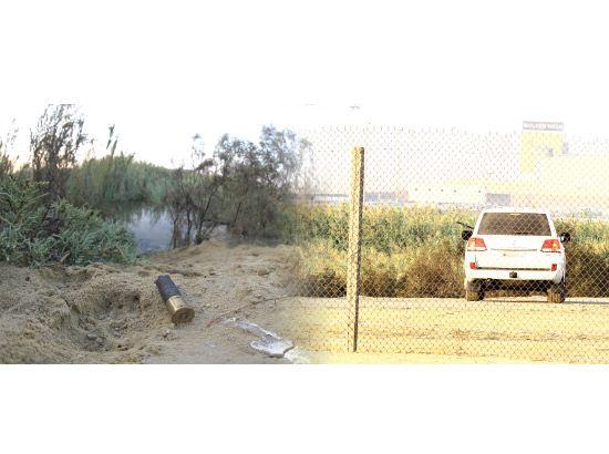 سلاح ناري يشهره سائق إحدى السيارات لصيد الطيور