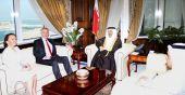 وزير المالية يجتمع مع رئيس الوزراء البريطاني الأسبق