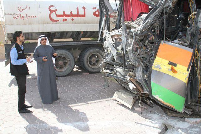 الكويت توقف السائقين المتورطين  في حادث العبدلي... والبحرين تشيّع ضحاياه   محليات - صحيفة الوسط البحرينية - مملكة البحرين