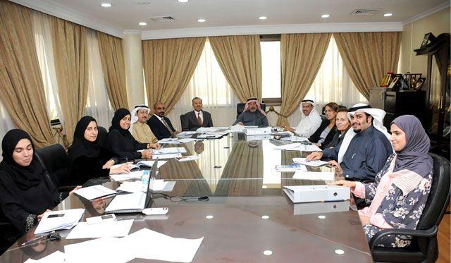 اجتماع لجنة تقييم المؤهلات العلمية أمس