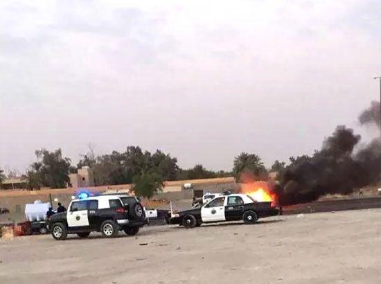 صورة تم تناقلها عبر مواقع التواصل الاجتماعية تظهر موقع الانفجار