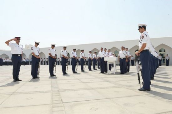 الجنازة العسكرية بساحة<br />قلعة الشرطة