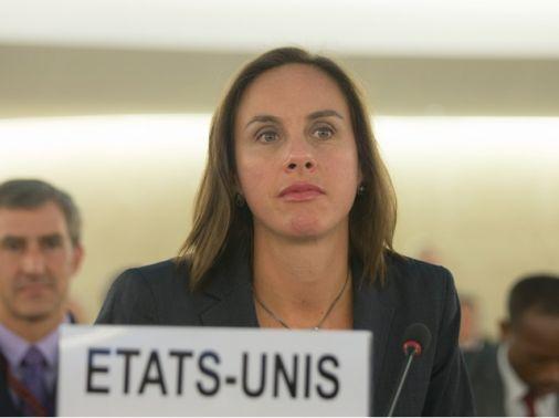 مندوب الولايات المتحدة<br />الأميركية في الامم المتحدة<br />نائب مساعد وزير الخارجية<br />الأميركي إيرين ام باركلي