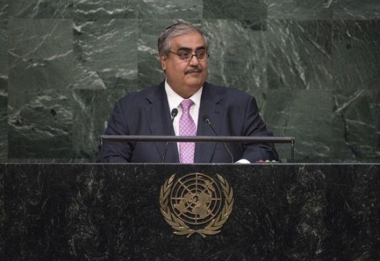 الشيخ خالد بن أحمد بن محمد<br />آل خليفة، وزير خارجية مملكة<br />البحرين - UN Photo/Cia Pak