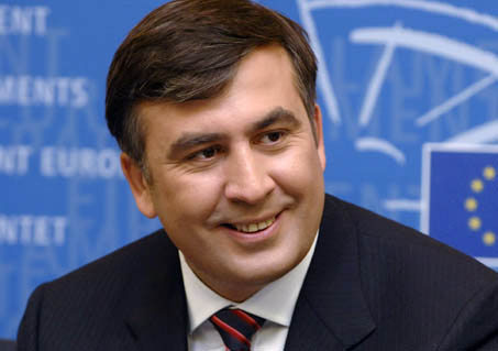 الرئيس السابق الموالي للغرب ميخائيل ساكاشفيلي