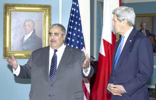 وزير الخارجية خلال لقائه<br />نظيره الأميركي جون كيري - afp