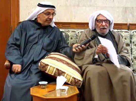 الحاج ميرزا التحو يلقي قصائد في مولد النبي
