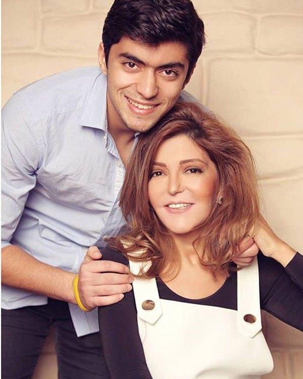 الفنانة المغربية سميرة سعيد مع ابنها شادي