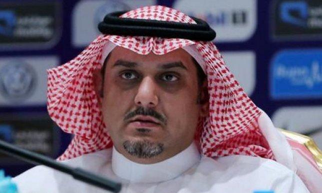 نواف بن سعد رئيس نادي الهلال السعودي