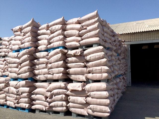 كميات من النخالة (الشوار) المتوافر لدى شركة البحرين لمطاحن الدقيق كمخزون فائض