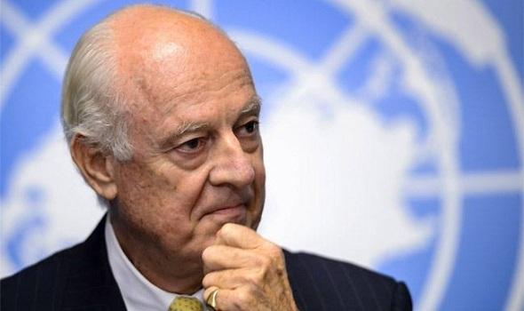 موفد الامم المتحدة الخاص الى سورية ستافان دي ميستورا