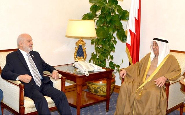 سمو نائب رئيس مجلس الوزراء مستقبلاً وزير الخارجية العراقي