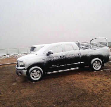 صور تناقلتها شبكات التواصل الاجتماعي في الكويت عن تساقط الثلوج