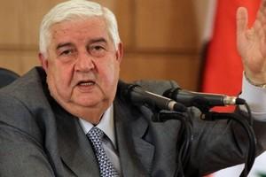 المعلم: لا يمكن وقف إطلاق النار قبل ضبط الحدود مع تركيا والأردن