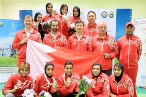 فتيات الرماية من ذهب في البطولة العربية للسيدات