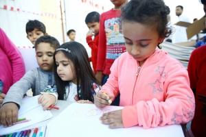 أكثر من 50 طفلاً رسموا منازل  يحلمون بالعيش فيها مستقبلاً