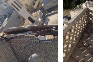 سقوط أجزاء من مسجد الشيخ سهلان بالعكر... و«الجعفرية»  تأمل إزالة المعوقات للبدء بالمشروع