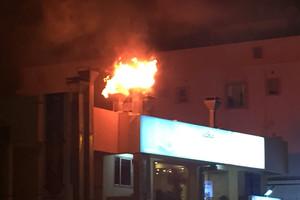 نشوب حريق في مدخنة أحد المطاعم بمنطقة سند